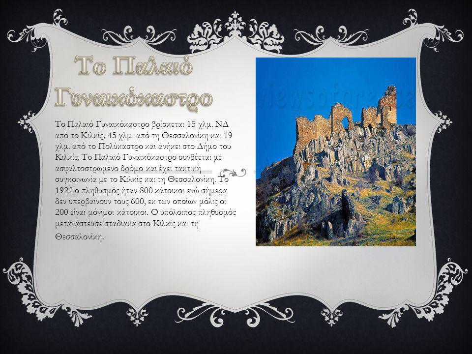Το Παλαιό Γυναικόκαστρο βρίσκεται 15 χλμ. ΝΔ από το Κιλκίς, 45 χλμ. από τη Θεσσαλονίκη και 19 χλμ. από το Πολύκαστρο και ανήκει στο Δήμο του Κιλκίς. Τ