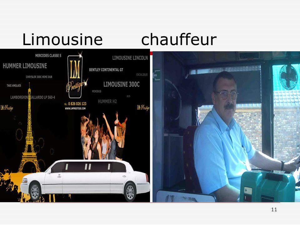 11 Limousine chauffeur