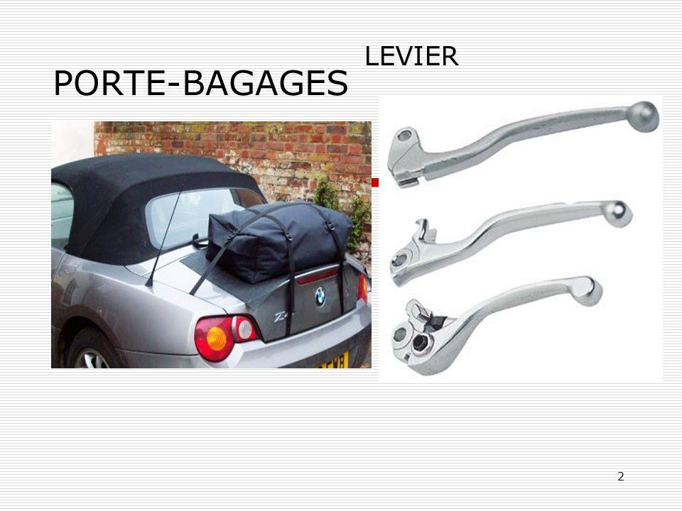 2 PORTE-BAGAGES LEVIER