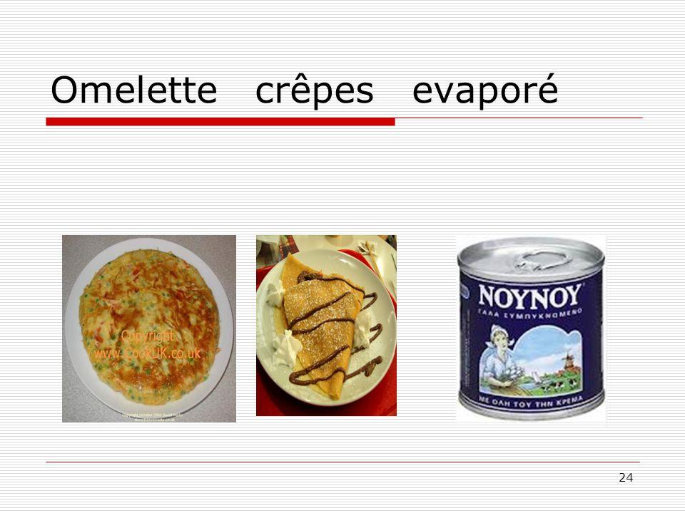 24 Omelette crêpes evaporé