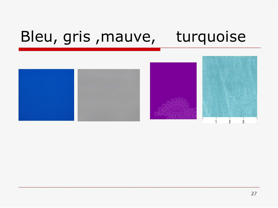 27 Bleu, gris,mauve, turquoise