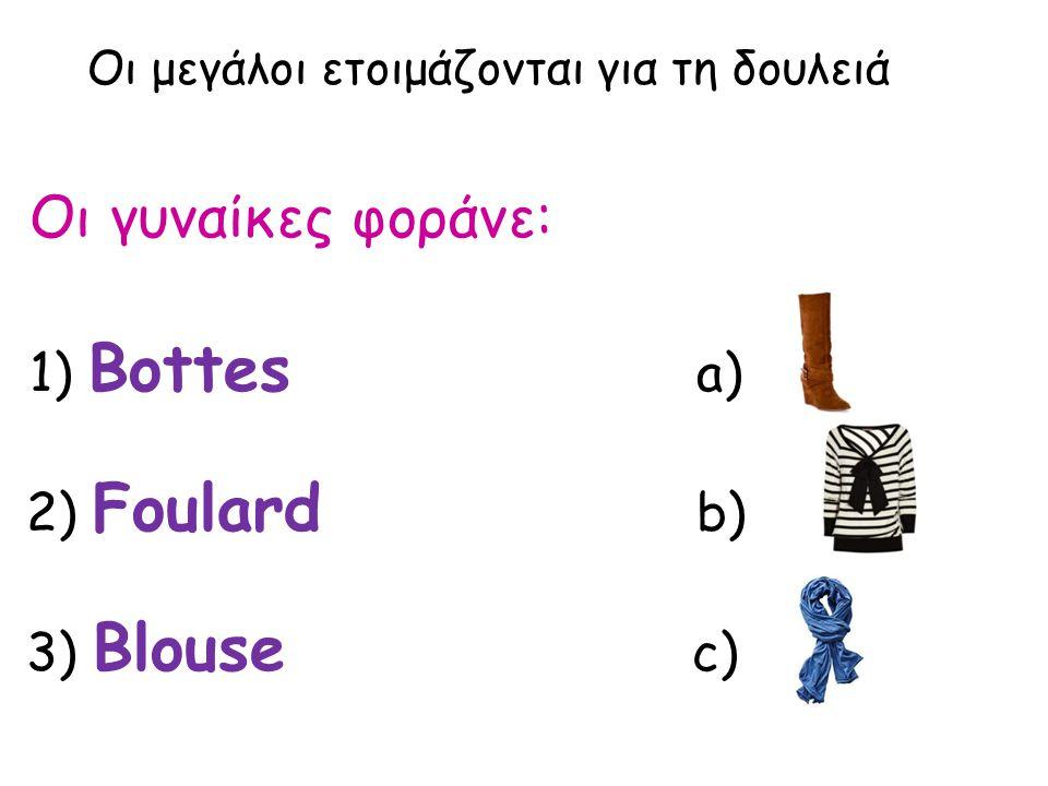 Επιστροφή στο σπίτι - απογευματινό 1) yaourt a) 2) crème chocolat b) 3) tarte aux fruits c)