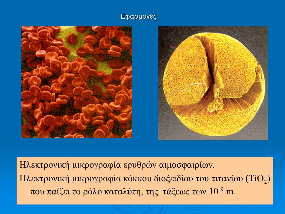 Εφαρμογές ΗΛΕΚΤΡΟΝΙΚΗ ΜΙΚΡΟΣΚΟΠΙΑ Ηλεκτρονική μικρογραφία κυτταρικής μεμβράνης.