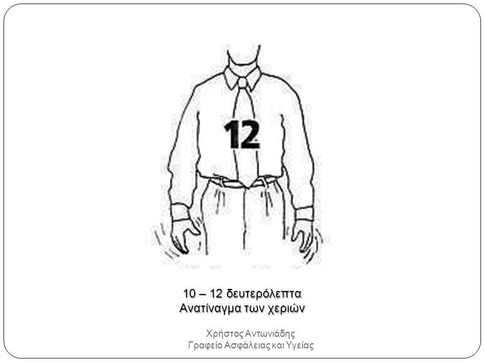 Χρήστος Αντωνιάδης Γραφείο Ασφάλειας και Υγείας 10 – 12 δευτερόλεπτα Ανατίναγμα των χεριών