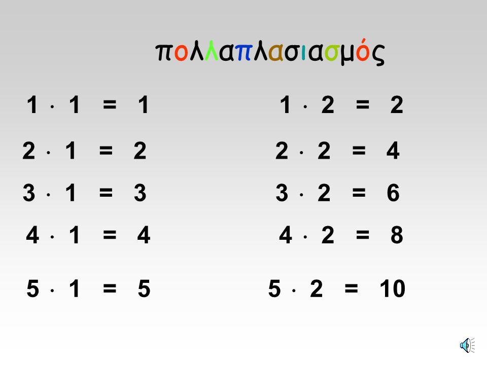 1  2=2 1  5=5 1  3=3 1  4=4
