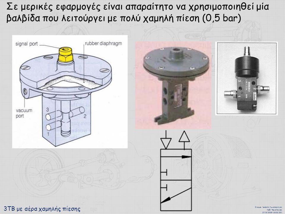 3ΤΒ με αέρα χαμηλής πίεσης Όνομα : Λεκάκης Κωνσταντίνος Καθ.