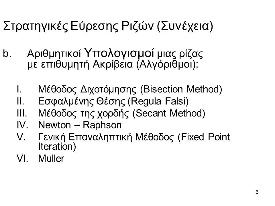 6 c.Γραφικές εικόνες και ιδιαίτερα χαρακτηριστικά των υπολογιστικών αλγορίθμων – Χρήση επιστημονικών πακέτων (π.χ.