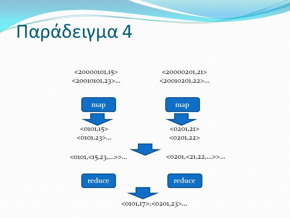 Παράδειγμα 4... map reduce...,... >......