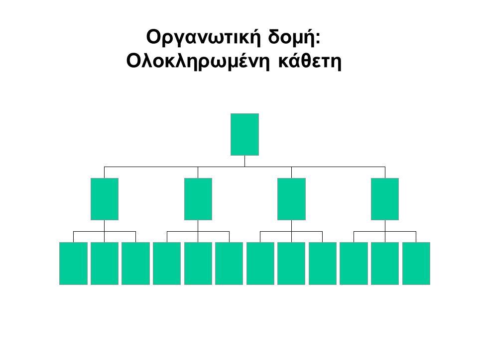 Οργανωτική δομή: Ολοκληρωμένη οριζόντια Β΄