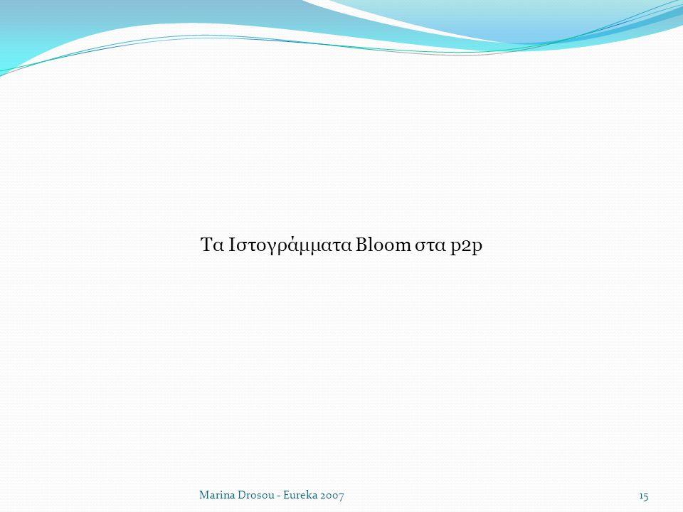 Marina Drosou - Eureka 2007 Τα Ιστογράμματα Bloom στα p2p 15