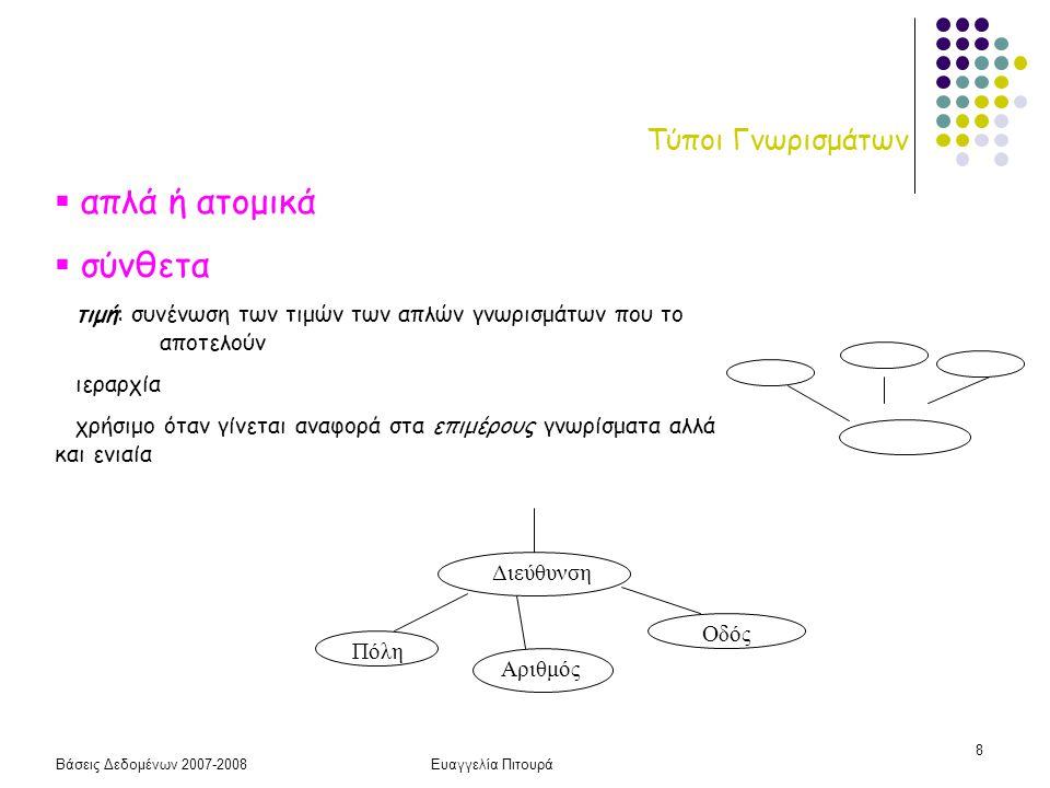 Βάσεις Δεδομένων 2007-2008Ευαγγελία Πιτουρά 29 Ολική Συμμετοχή Σχηματικά Ολική Συμμετοχή για το Ε1 Ολική Συμμετοχή για το Ε2 Ολική Συμμετοχή και για το Ε1 και για το Ε2 Ε1Ε2