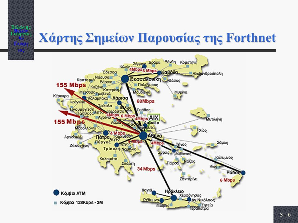Βελώνης Γεώργιος 3 - 6 Χάρτης Σημείων Παρουσίας της Forthnet
