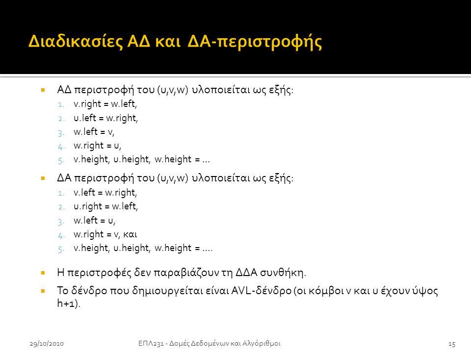 29/10/2010  ΑΔ περιστροφή του (u,v,w) υλοποιείται ως εξής: 1.