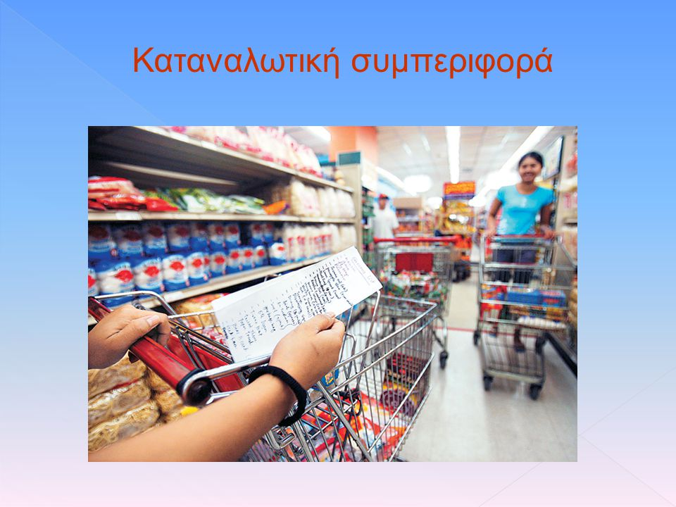 Καταναλωτική συμπεριφορά