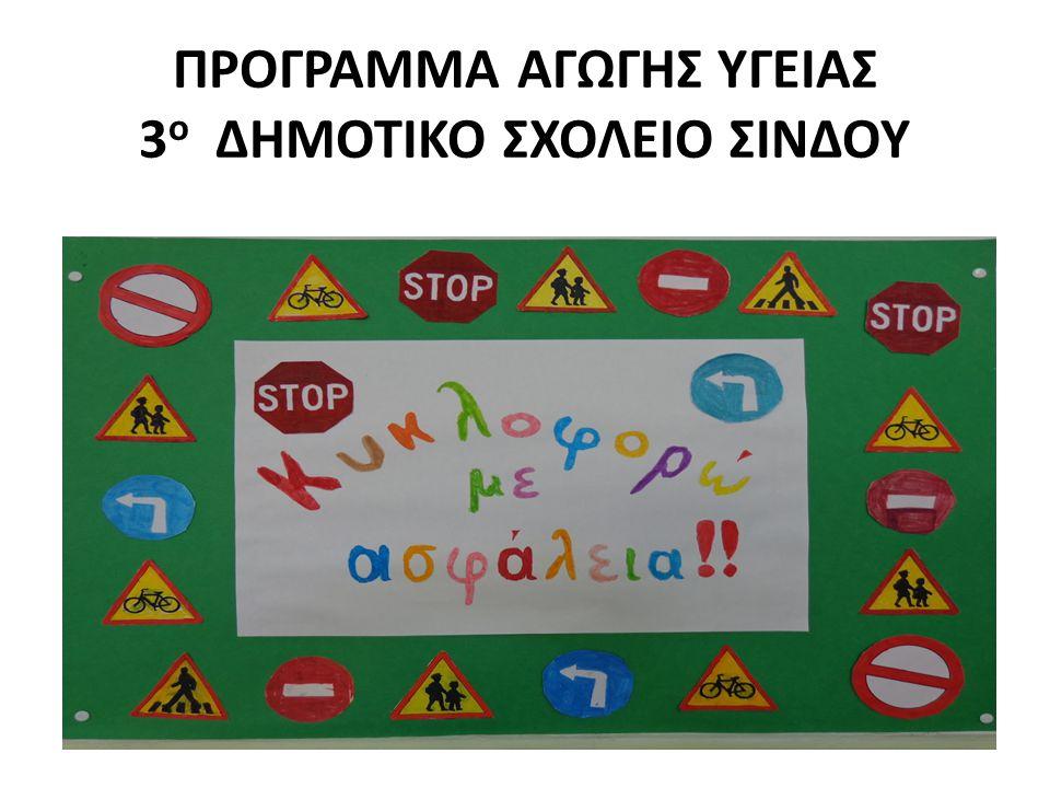 ΣΤΟΧΟΙ ΠΡΟΓΡΑΜΜΑΤΟΣ Να αναγνωρίζουν σωστά τα σήματα και τις πινακίδες της τροχαίας.