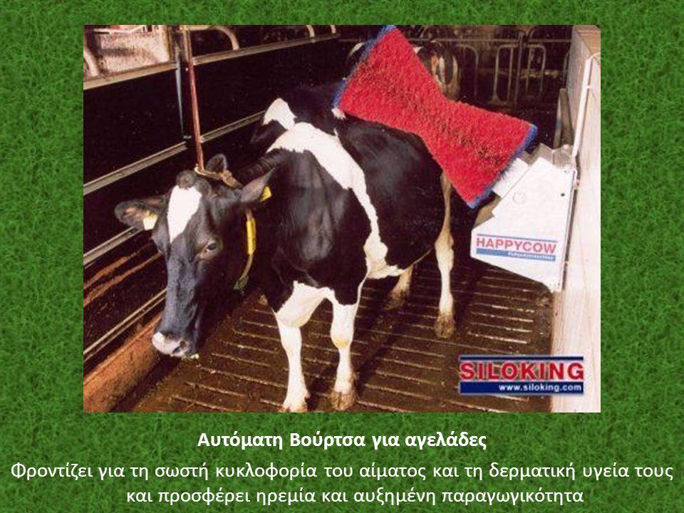 Αυτόματη Βούρτσα για αγελάδες Φροντίζει για τη σωστή κυκλοφορία του αίματος και τη δερματική υγεία τους και προσφέρει ηρεμία και αυξημένη παραγωγικότη