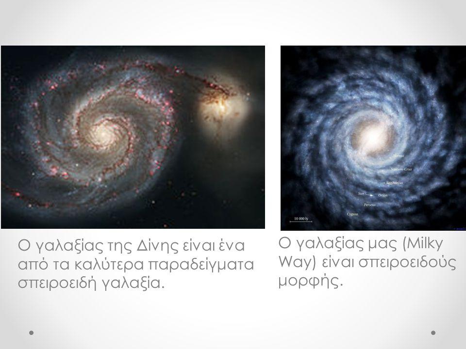 Ο γαλαξίας της Δίνης είναι ένα από τα καλύτερα παραδείγματα σπειροειδή γαλαξία. Ο γαλαξίας μας (Milky Way) είναι σπειροειδούς μορφής.