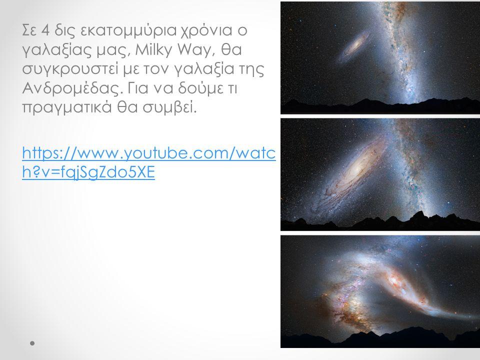 Σε 4 δις εκατομμύρια χρόνια ο γαλαξίας μας, Milky Way, θα συγκρουστεί με τον γαλαξία της Ανδρομέδας. Για να δούμε τι πραγματικά θα συμβεί. https://www