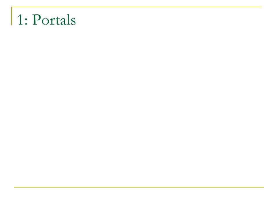 1: Portals
