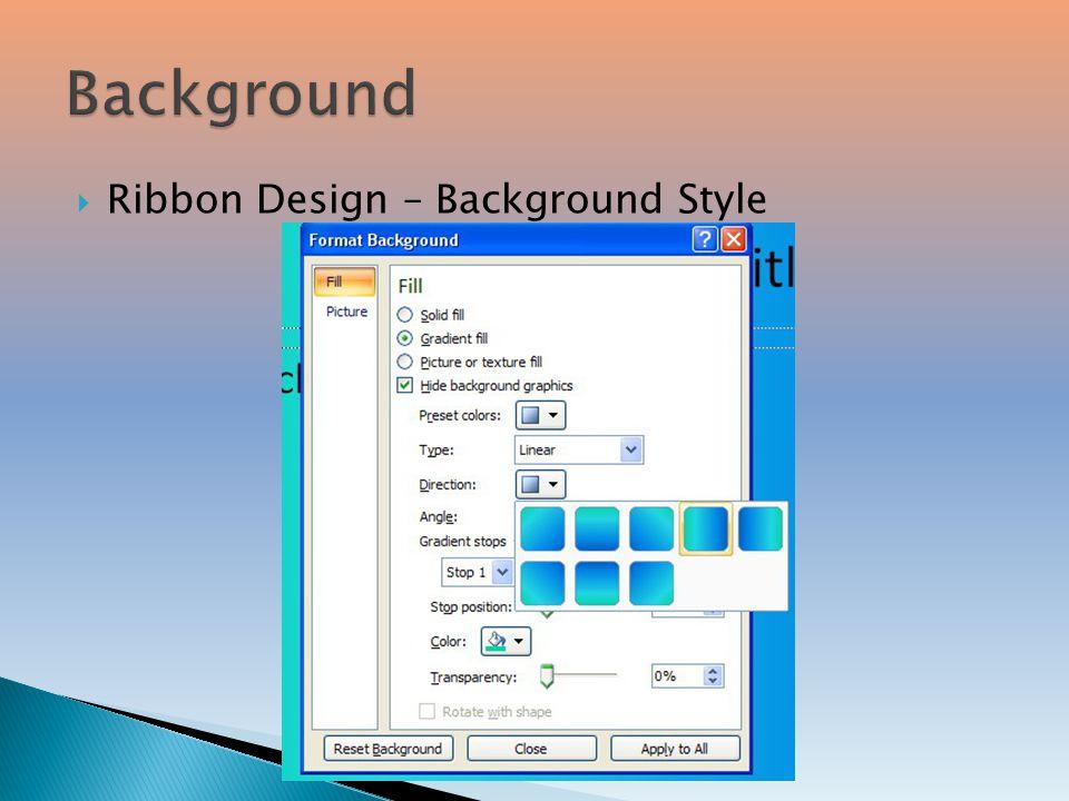 7  Ribbon Design – Background Style