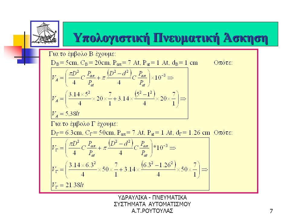 ΥΔΡΑΥΛΙΚΑ - ΠΝΕΥΜΑΤΙΚΑ ΣΥΣΤΗΜΑΤΑ ΑΥΤΟΜΑΤΙΣΜΟΥ Α.Τ.ΡΟΥΤΟΥΛΑΣ57 Διαδικασία Υλοποίησης Αυτοματισμού με P.L.C.