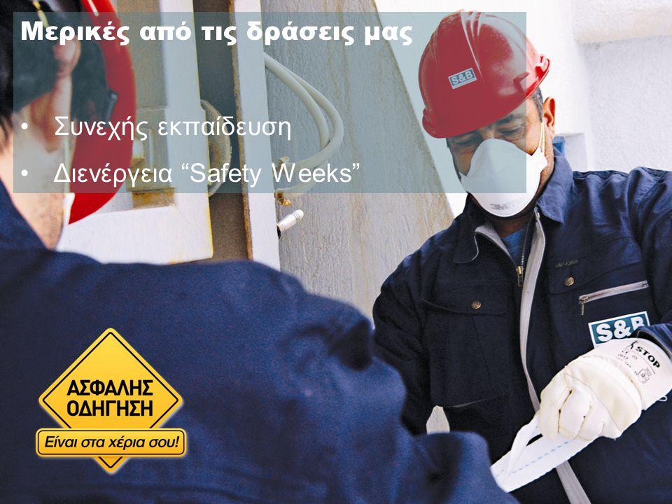 Μερικές από τις δράσεις μας Συνεχής εκπαίδευση Διενέργεια Safety Weeks