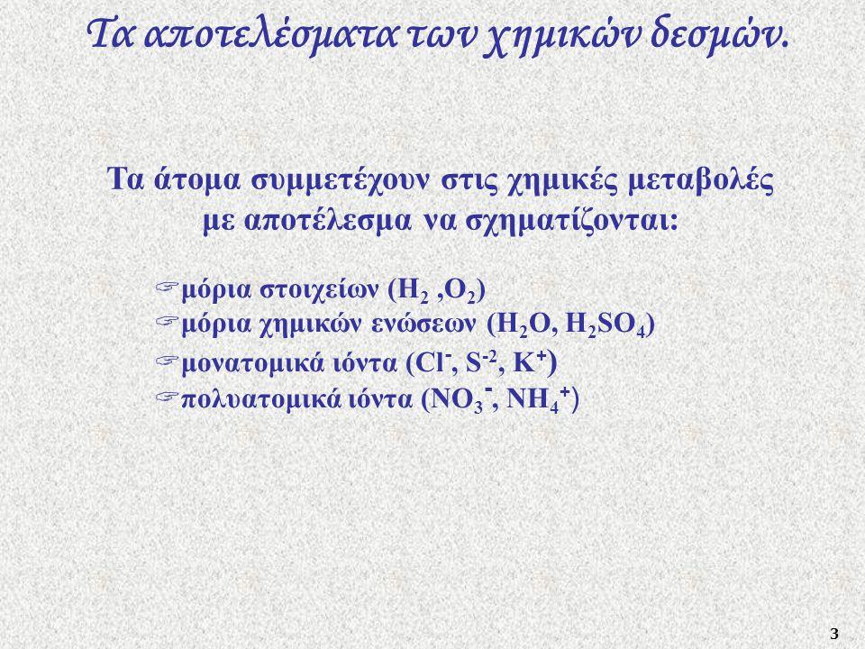 4 Τα ηλεκτρόνια σθένους.