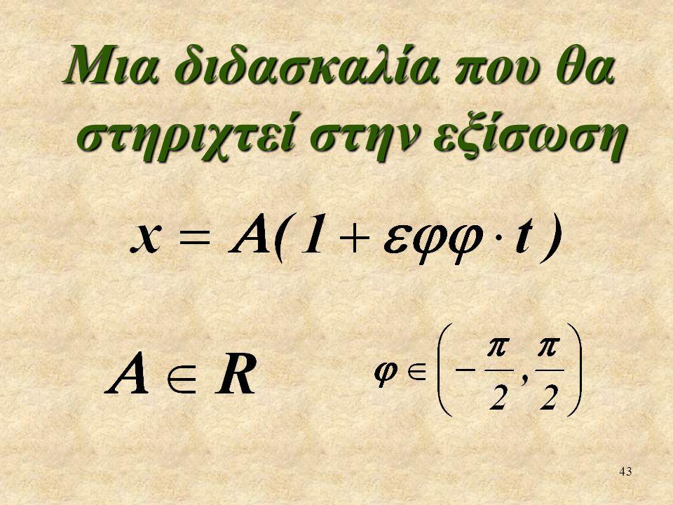43 Μια διδασκαλία που θα στηριχτεί στην εξίσωση