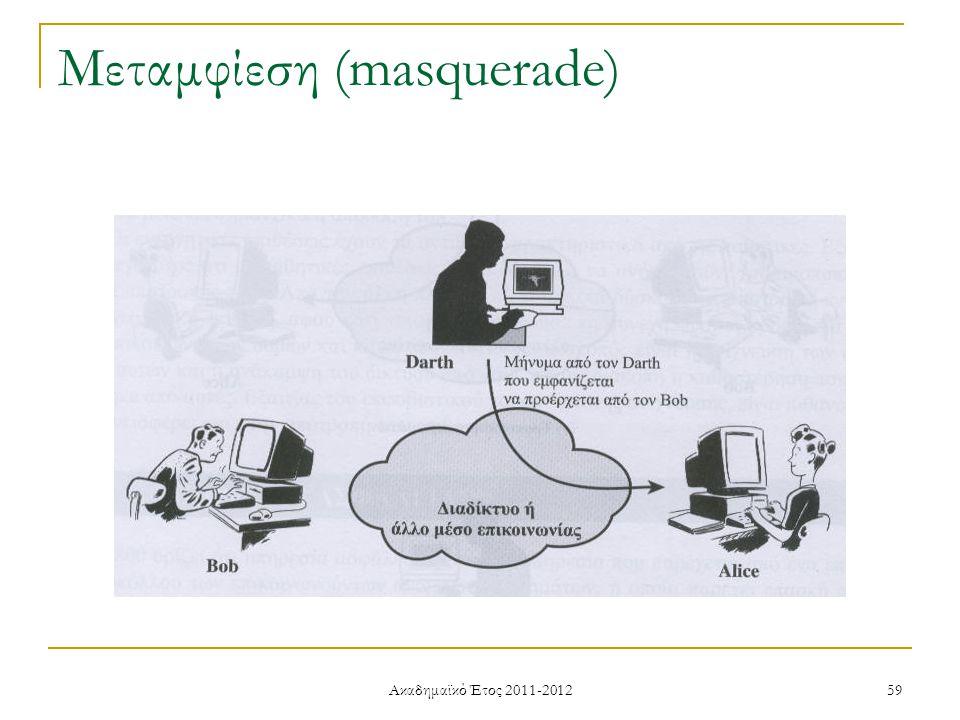 Ακαδημαϊκό Έτος 2011-2012 59 Μεταμφίεση (masquerade)