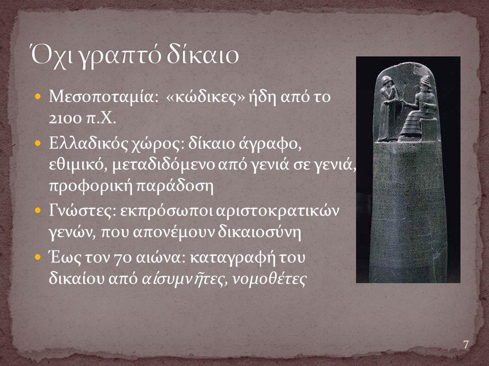 Μεσοποταμία: «κώδικες» ήδη από το 2100 π.Χ.