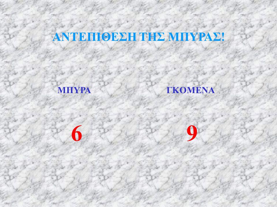 ΑΝΤΕΠΙΘΕΣΗ ΤΗΣ ΜΠΥΡΑΣ! ΜΠΥΡΑ ΓΚΟΜΕΝΑ 6 9