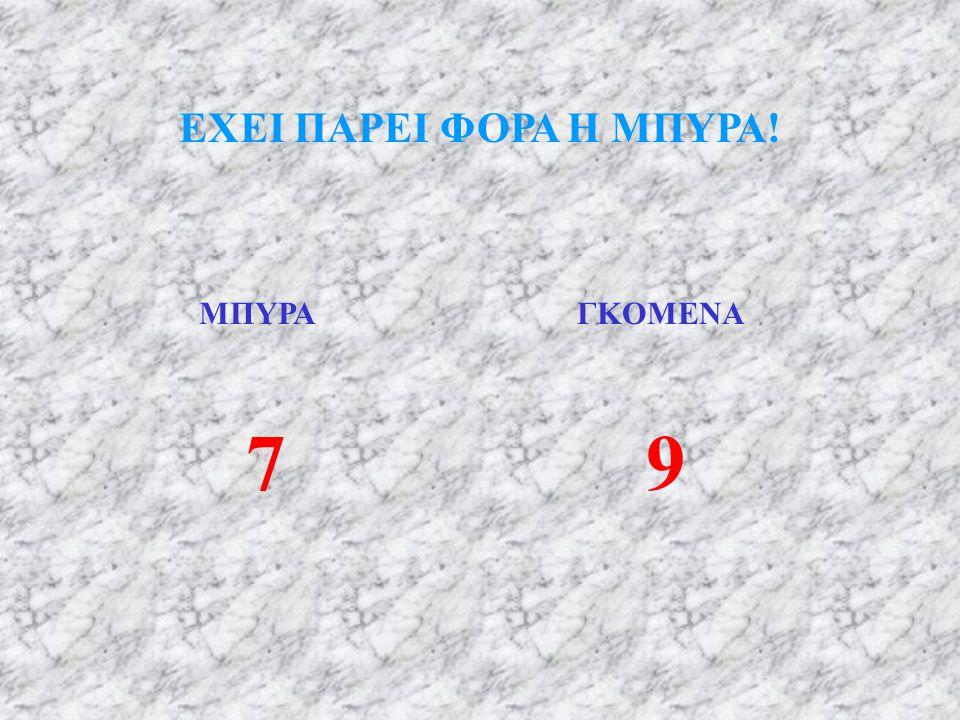 ΕΧΕΙ ΠΑΡΕΙ ΦΟΡΑ Η ΜΠΥΡΑ! ΜΠΥΡΑ ΓΚΟΜΕΝΑ 7 9