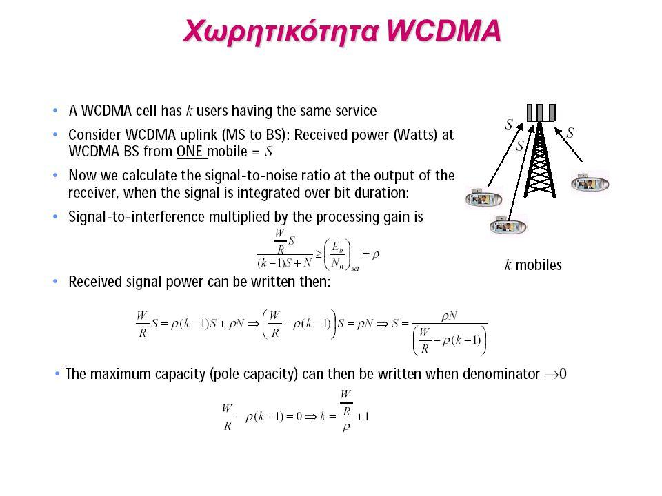 Χωρητικότητα WCDMA