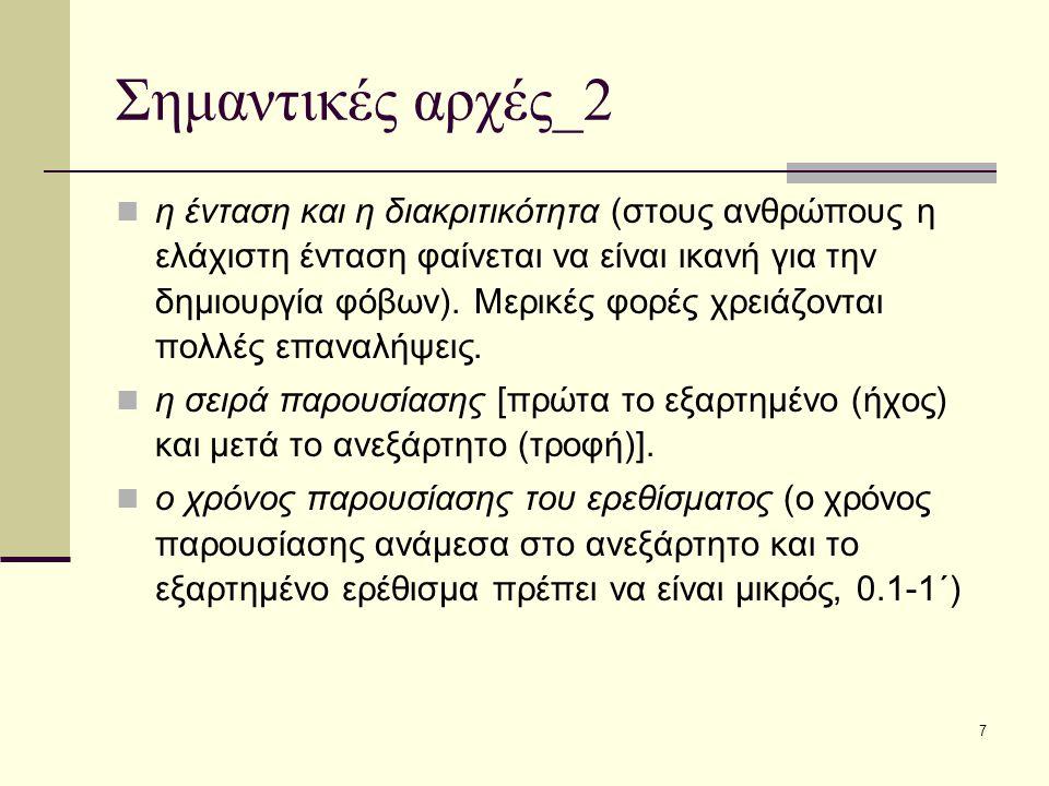 7 Σημαντικές αρχές_2 η ένταση και η διακριτικότητα (στους ανθρώπους η ελάχιστη ένταση φαίνεται να είναι ικανή για την δημιουργία φόβων). Μερικές φορές