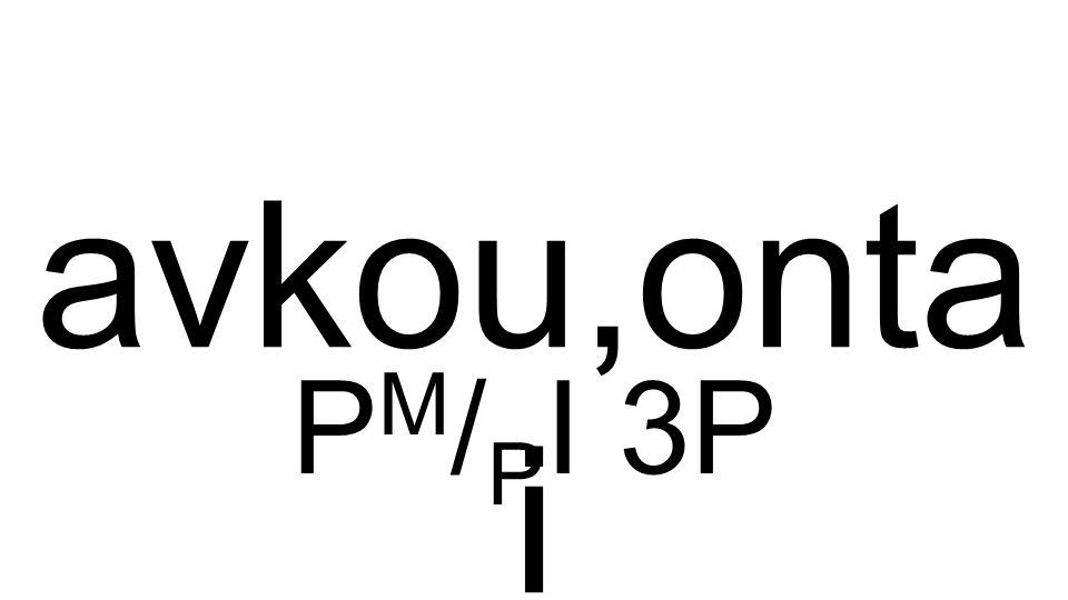 P M / P I 3P