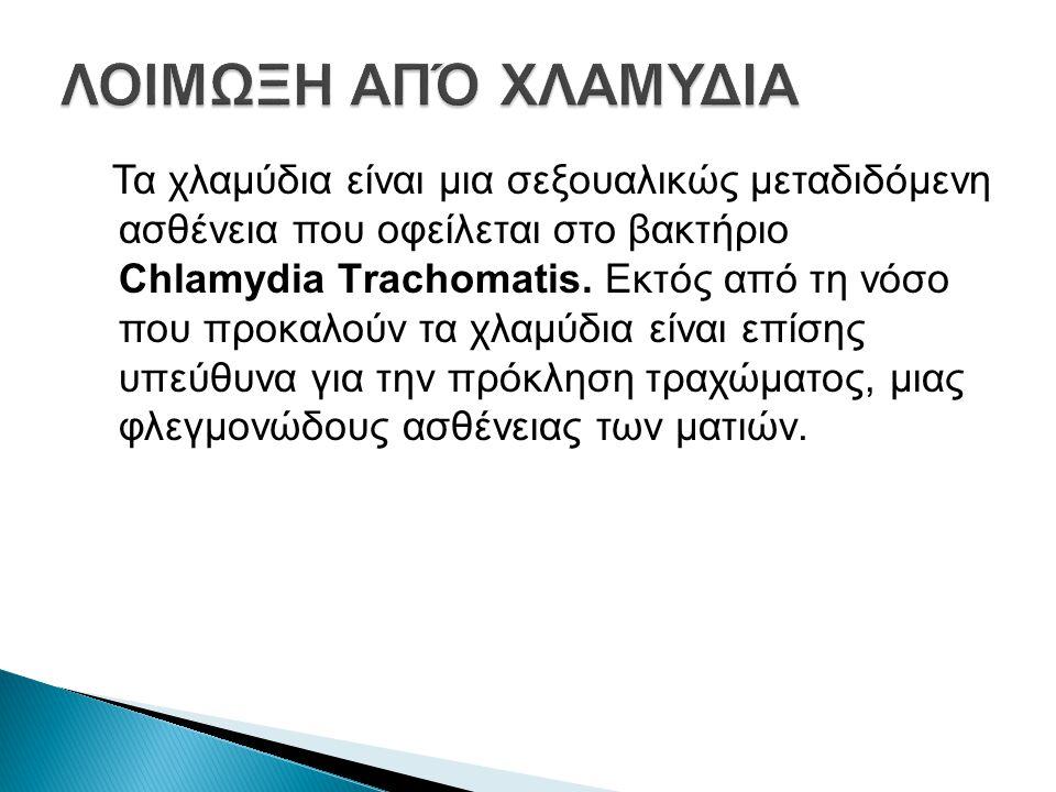 Τα χλαμύδια είναι μια σεξουαλικώς μεταδιδόμενη ασθένεια που οφείλεται στο βακτήριο Chlamydia Τrachomatis.
