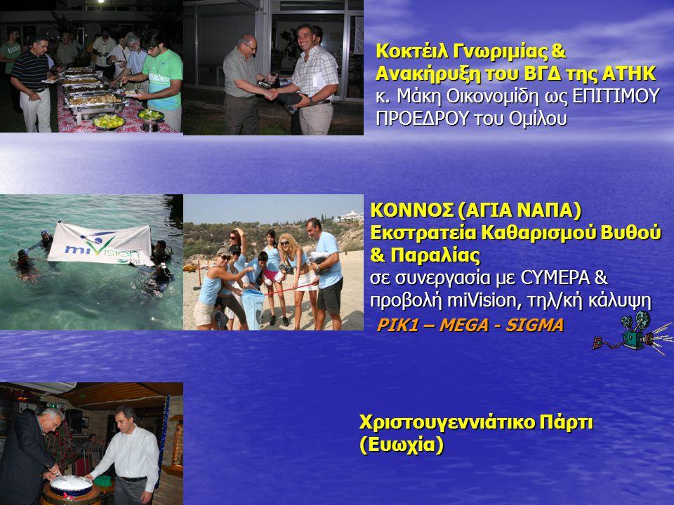 Κοκτέιλ Γνωριμίας & Ανακήρυξη του ΒΓΔ της ΑΤΗΚ κ.