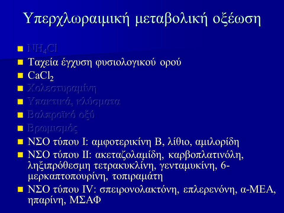 Υπερχλωραιμική μεταβολική οξέωση