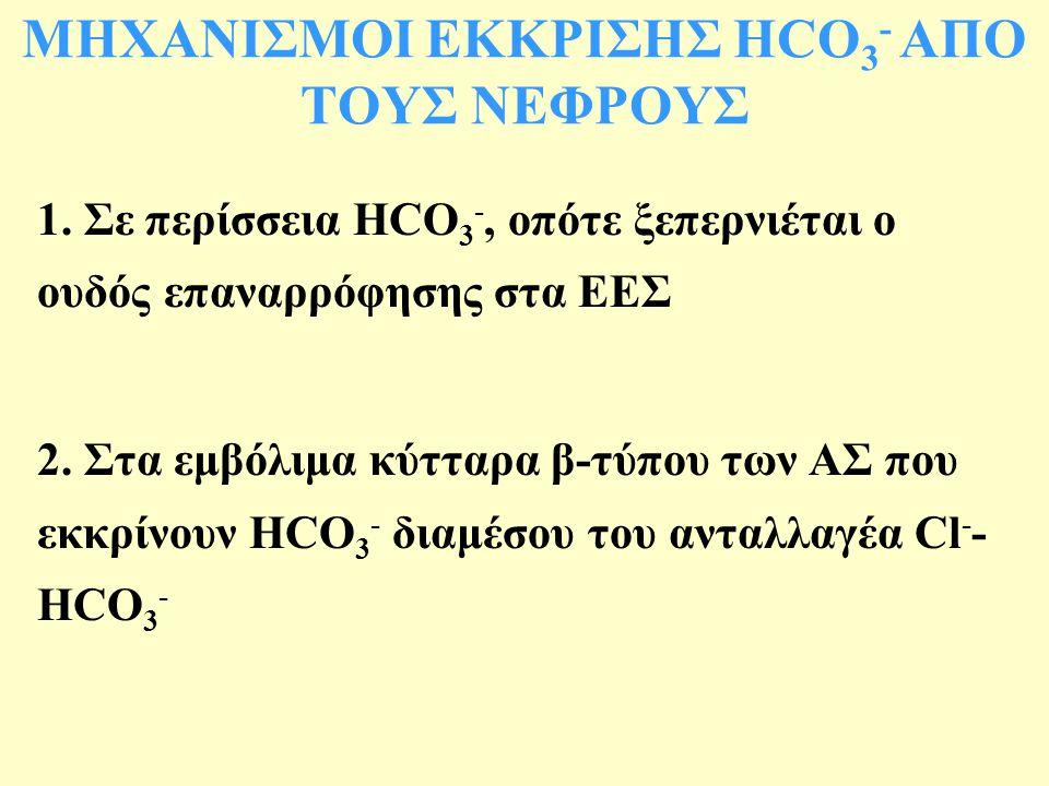 ΜΗΧΑΝΙΣΜΟΙ ΕΚΚΡΙΣΗΣ HCO 3 - ΑΠΟ ΤΟΥΣ ΝΕΦΡΟΥΣ 1.