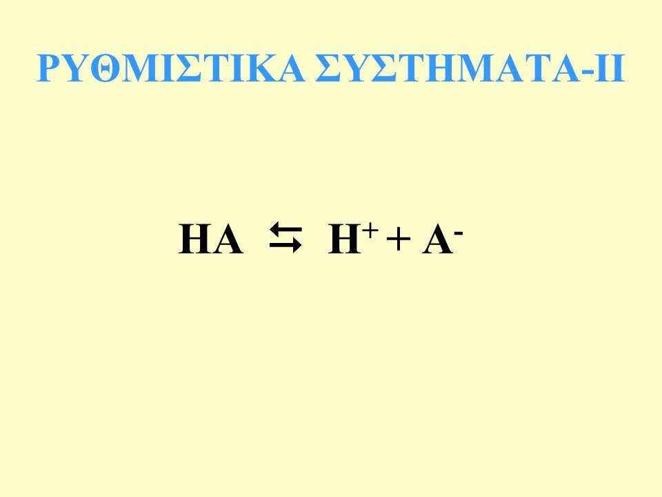 ΗΑ  Η + + Α - ΡΥΘΜΙΣΤΙΚΑ ΣΥΣΤΗΜΑΤΑ-IΙ