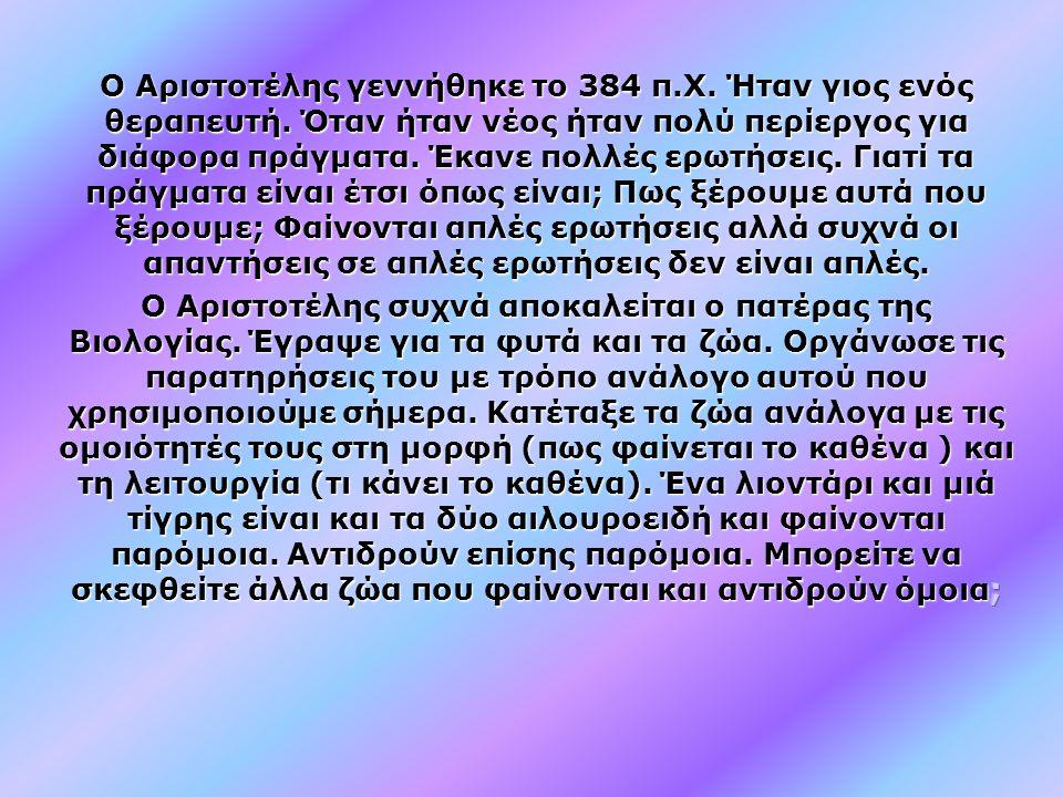 Αριστοτέλης (384-322 π.Χ.)
