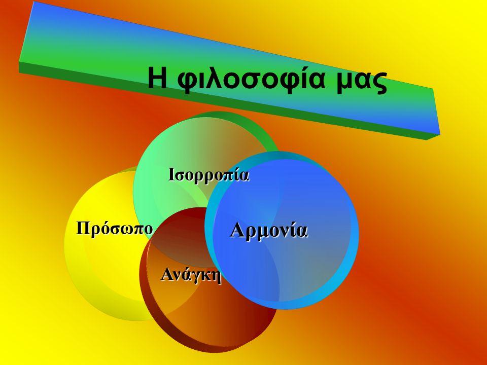 Η φιλοσοφία μας Πρόσωπο Ισορροπία Αρμονία Ανάγκη