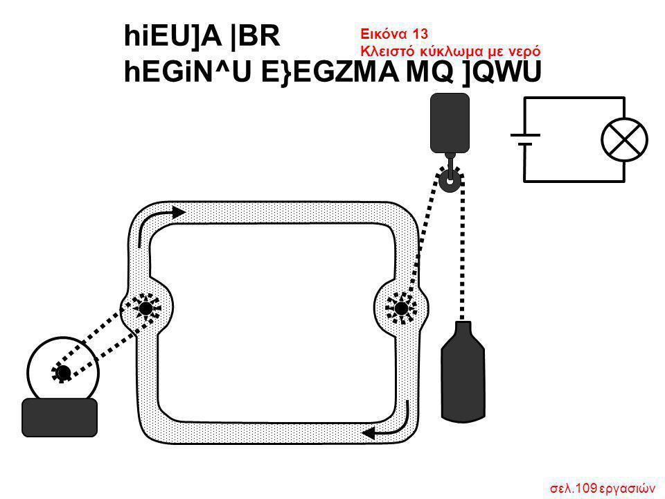 σελ.109 εργασιών hiEU]A  BR hEGiN^U E}EGZMA MQ ]QWU Εικόνα 13 Κλειστό κύκλωμα με νερό