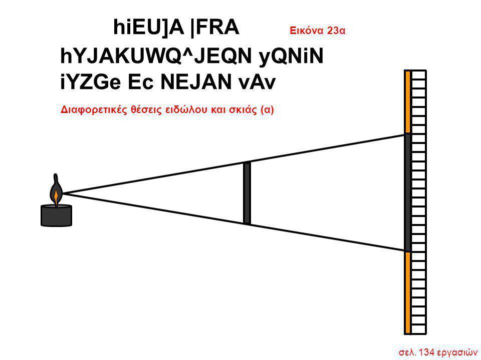 Εικόνα 23α Διαφορετικές θέσεις ειδώλου και σκιάς (α) hYJAKUWQ^JEQN yQNiN iYZGe Ec NEJAN vAv σελ. 134 εργασιών hiEU]A  FRA