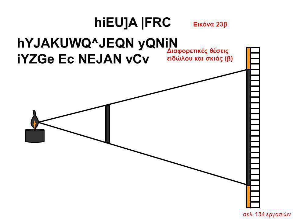Διαφορετικές θέσεις ειδώλου και σκιάς (β) hYJAKUWQ^JEQN yQNiN iYZGe Ec NEJAN vCv Εικόνα 23β hiEU]A  FRC σελ. 134 εργασιών
