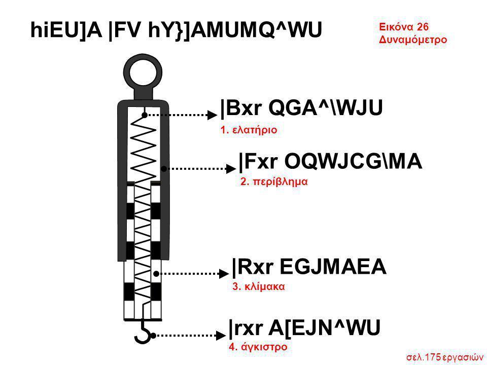 Εικόνα 26 Δυναμόμετρο σελ.175 εργασιών hiEU]A  FV hY}]AMUMQ^WU 1. ελατήριο 2. περίβλημα 3. κλίμακα 4. άγκιστρο  Bxr QGA^\WJU  Fxr OQWJCG\MA  Rxr EGJMA