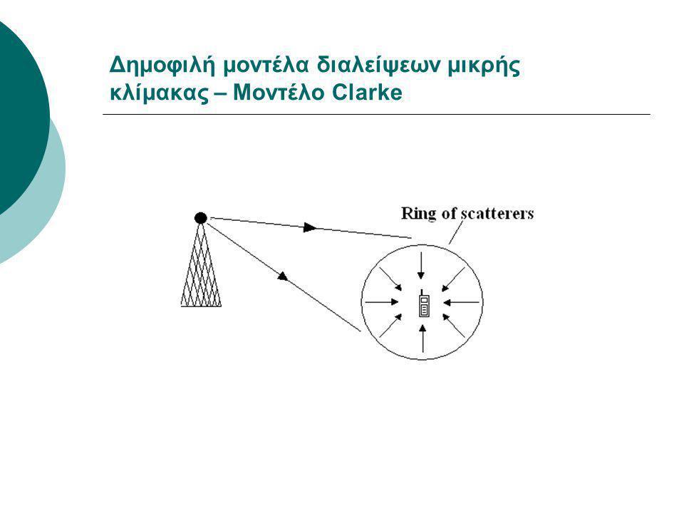 Δημοφιλή μοντέλα διαλείψεων μικρής κλίμακας – Μοντέλο Clarke