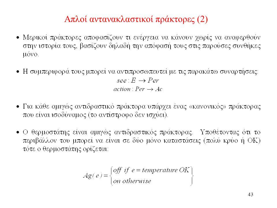 43 Απλοί αντανακλαστικοί πράκτορες (2)