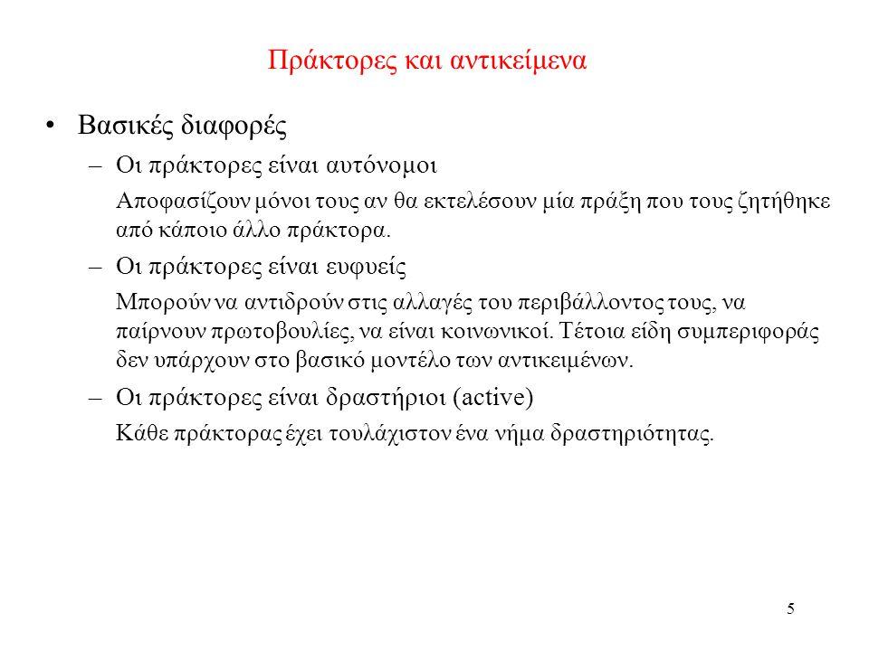 46 Ορισμός πράκτορα με κατάσταση Το σύνολο όλων των εσωτερικών καταστάσεων του πράκτορα είναι Ι.