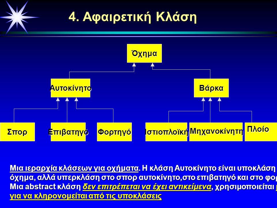 Περιεχόμενα Κεφαλαίου 1. Γενικοί Ορισμοί 2. Κλάσεις καί η Περιγραφή τους 3. Σχέσεις Μεταξύ Κλάσεων 4. Αφαιρετικές Κλάσεις 5. Προχωρημένες Έννοιες